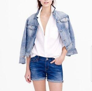 J. Crew indigo denim Jean shorts size 23